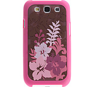 Floral Pattern 2 in 1 Detachable Hard Case for Samsung Galaxy S3 I9300