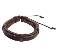 Z&X® Men's Braided Cow Leather Bracelet Christmas Gifts