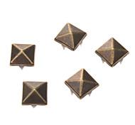 10 millimetri in metallo Piazza Rivet (contengono 100 Pics)