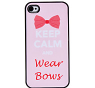 Flash Design Cute Bowknot Pattern Hard Case for iPhone 4/4S