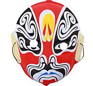 Collectible chino ópera de Pekín Máscara de Halloween Costume Party y rendimiento (color al azar)