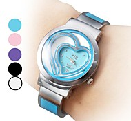 Women's Casual Style Analog Steel Quartz Bracelet Watch (Assorted Colors)