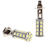 H1 5W 30x5050 SMD White LED Bulb for Car Headlight Fog Light (12V, 2-Pack)