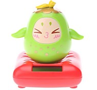 Solar Powered Pear Head Shaking Desktop Toy (Random Color)