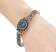 Femmes Bracelet en alliage de style analogique Montre à quartz (noir)