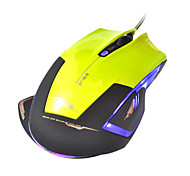 E-3LUE ergonómico de alta precisión 4-modo Shift DPI LED USB 2.0 Gaming Mouse