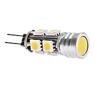 4W G4 LED-maïslampen T 9 SMD 5050 270 lm Warm wit DC 12 V