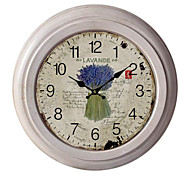 """12.75""""H Country Lavender Metal Wall Clock"""