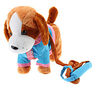 Singing and Dancing Toy Dressed Lovely Plush Puppy (3xAA, Assorted Color)