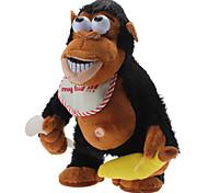 Singing and Dancing Toy Sentimental Crazy Plush Orangutan (3xAA)