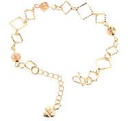 Тупые польские бисера площади позолоченный Bracelace