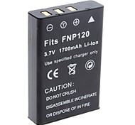 Digital Video Battery Replace Fuji NP-120 for Fuji Caplio RR30 and More (3.7v, 1700 mAh)