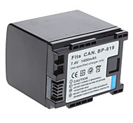Digital Video Battery Replace Canon BP-819 for Canon HF10, HF100 HF S & HF M Camcorders (7.4v, 1400 mAh)
