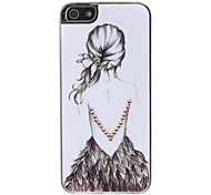 Girl' Back Pattern Hard Case for iPhone 5/5S