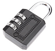 Alta Calidad de 3 dígitos cerradura de combinación para el equipaje (colores surtidos)