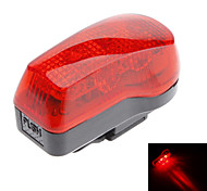 Red+Black ABS 7 Super Bright LED/4 Flashing Mode Bicycle Safety Light