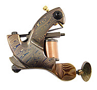 Corte de alambre de acero de Damasco tatuaje ametralladora Shader