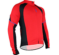 Santic Men's Cycling Jacket/Cycling Jersey Polyester+Mesh Long Sleeve Breathable+Quick-Drying C01012R