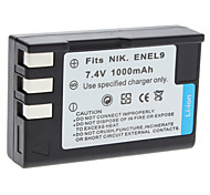 Digital Video Battery Replace Nikon EN-EL9 for Nikon D40 D40x and More (7.4v, 1000 mAh)
