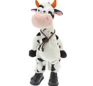 Singing and Dancing Toy Crazy Shaking Head Plush Milk Cow (3xAA)