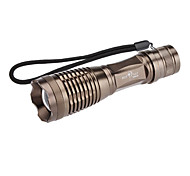 LED Flashlights/Torch / Handheld Flashlights/Torch LED 5 Mode 1000 Lumens Adjustable Focus Cree XM-L T6 18650 / AA Sky Ray , Brown