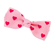 Heart Pattern Mini Bow Tie Hair Clip for Pets