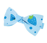 Strawberry Pattern Mini Bow Tie Hair Clip for Pets