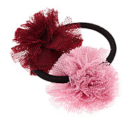 Dual Fabric Ball Hair Band for Pets(Assorted Colors)