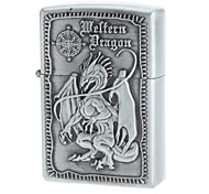 Dragon Pattern Vintage Oil Lighter (Gray)