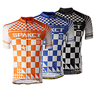 SPAKCT 100%Polyester Short Sleeve Breathable/Quick-Drying Men Cycling Jersey S13C10