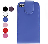 Simple Style Funda de Cuero PU para iPhone 4 y (colores surtidos) 4S