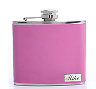 Personalized Father's Day Gift Rose 5oz PU Leather Flask