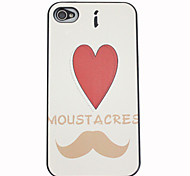 amor barba Capa para iPhone 4 / 4s