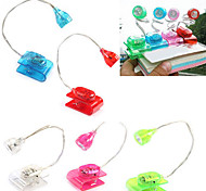 Creative Mini Desk Lamp Book Reading LED Light with Clip (Random Color)