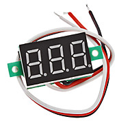 "V20D 0.36 ""LED 3-Línea 3-Digital Voltímetro de corriente directa Módulo Meter (Blanco + Verde, DC 0 ~ 100V)"