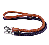 Dog Leashes Black / Brown Genuine Leather
