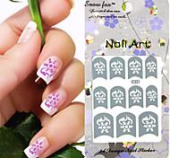3PCS Mixed-style Paper Nail Art Image Stamp Stickers LK Series No.3