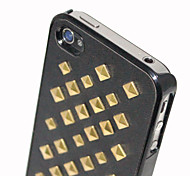 Square Metal Rivet Back Cover for iPhone 4/4S