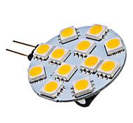 Bombilla LED Blanco Cálido G4 1.5W 12x5050SMD 70LM 2700K (12V)