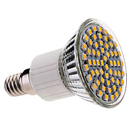 Foco de Luz Cálida Tibia LED E14 60x3528 SMD 3.5W 400LM 2800-3200K -200-240V