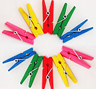 Color Painted Wooden Clips(10 PCS Assorted Colors)