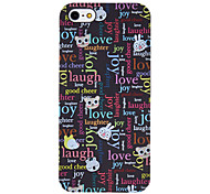 Letters and Animals Pattern Hard Case for iPhone 5/5S