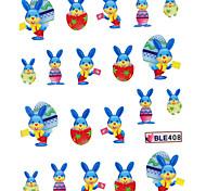 5PCS Water Transfer Printing Nail Stickers NO.12 Multi-Pattern