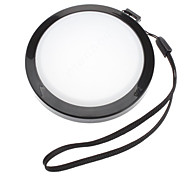 MENNON 72mm Camera White Balance Lens Cap Cover with Hand Strap (Black & White)