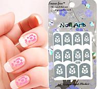 3PCS Mixed-style Paper Nail Art Image Stamp Stickers LK Series No.21