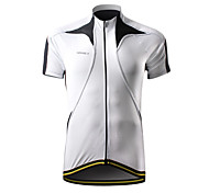 SPAKCT Bike/Cycling Jersey / Tops Men's Short Sleeve Breathable / Quick Dry / Waterproof Zipper / Front Zipper 100% Polyester WhiteS / M