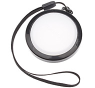 MENNON 46mm Camera White Balance Lens Cap Cover with Hand Strap (Black & White)