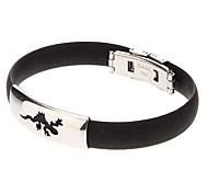 Men's The Vinyl Gecko Symbol Stainless Steel Bracelet