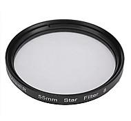 Banner 8 puntos filtro estrella 55mm para Canon, Nikon, Sony y más