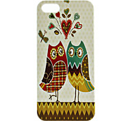 Cartoon Owl Pattern Hard Case for iPhone 5/5S